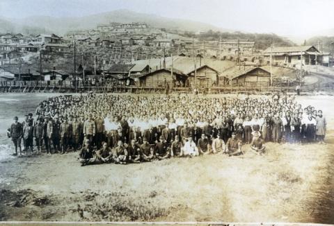 炭住者の集会