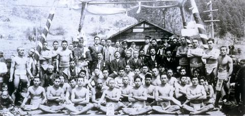 小田炭礦山神祭の相撲大会