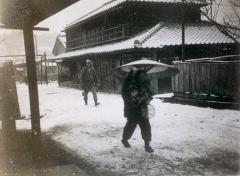 雪の町並み