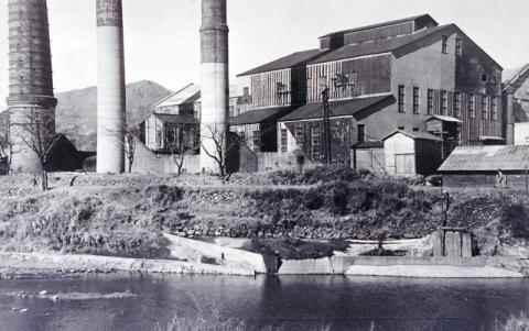 古河好間炭鉱火力発電所(昭和19年頃)