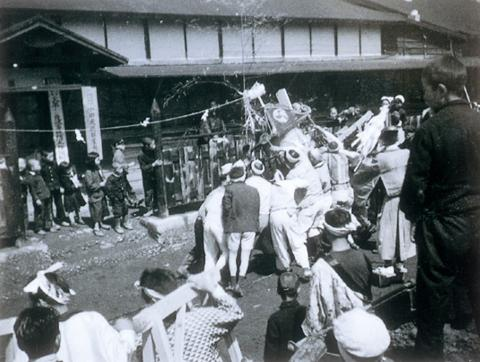 鳳城炭礦の山神祭